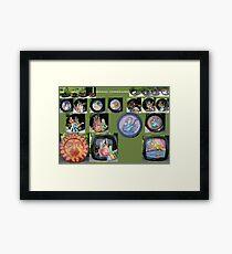 Ceramic dinnerware Framed Print