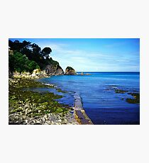 Lee bay in devon Photographic Print