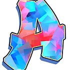 Letter A - Color Mix by paintcave
