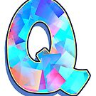 Letter Q - Color Mix by paintcave