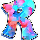 Letter R - Color Mix by paintcave