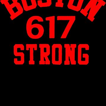 Boston 617 Strong by YogiStore