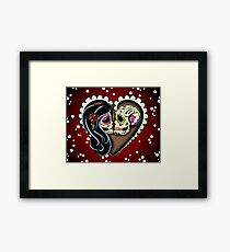 Ashes - Day of the Dead Couple - Sugar Skull Lovers Framed Print