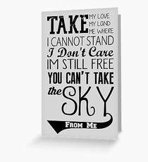 Firefly Theme song quote Greeting Card