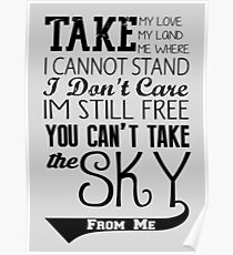 Firefly Theme song quote Poster