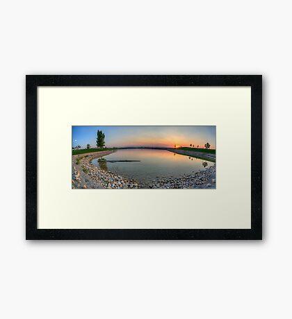Rocky Mountain Sunset Series - Orange Sky Panorama Framed Print