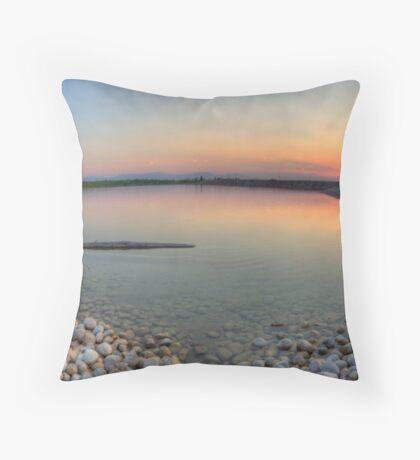 Rocky Mountain Sunset Series - Orange Sky Panorama Throw Pillow