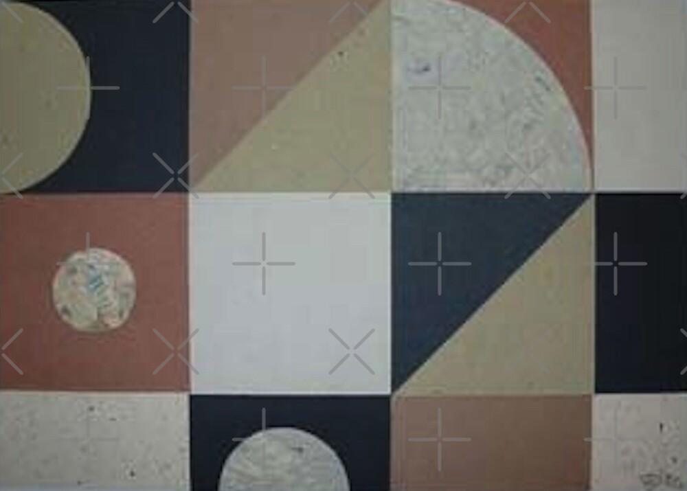 Abstract geometric collage by Jonesyinc