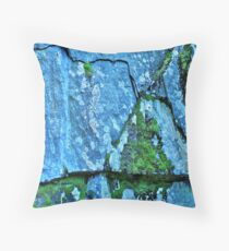 On The Rocks - Blue Throw Pillow