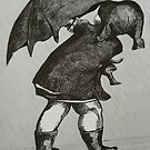 Girl in the Rain by nellaevad