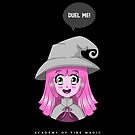 Academy Of Fire Magic - Duel Me! Gamer T-Shirts For Women Or Men by Design Kitty