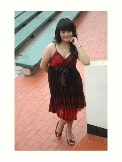 young lady wearing black and red gown by bayu harsa