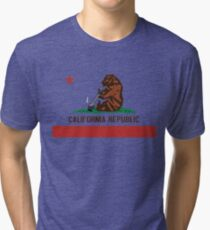 Funny Shirt - California State Flag Tri-blend T-Shirt