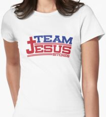 Funny Shirt - Team Jesus Womens Fitted T-Shirt