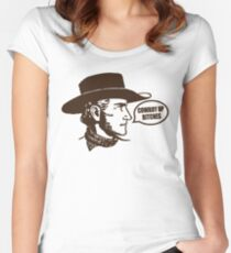 Funny Shirt - Cowboy Up Women's Fitted Scoop T-Shirt