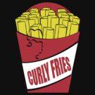 Funny Shirt - Curly Fries by MrFunnyShirt