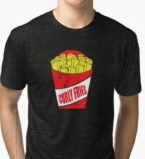 Funny Shirt - Curly Fries Tri-blend T-Shirt