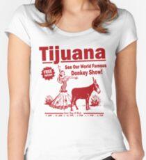 Funny Shirt - Tijuana Donkey Show Women's Fitted Scoop T-Shirt