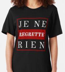 French Slogan Je Ne Regrette Rien Slim Fit T-Shirt