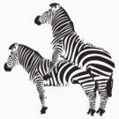 Funny Shirt - Two Headed Zebra by MrFunnyShirt
