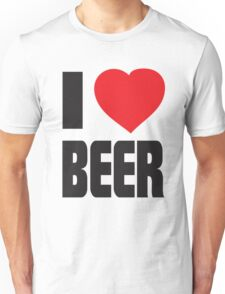 Funny Shirt - I Love Beer Unisex T-Shirt