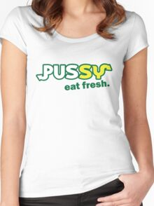 Funny Shirt - Eat Fresh Women's Fitted Scoop T-Shirt