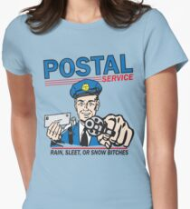 Funny Shirt - Postal Women's Fitted T-Shirt