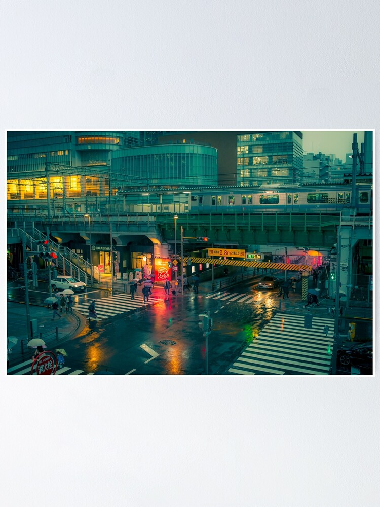 Alternate view of Rainy night in Neo Tokyo Poster
