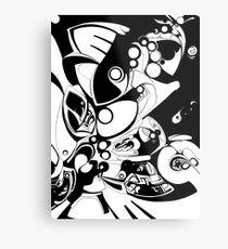 Bubble Ships Metal Print