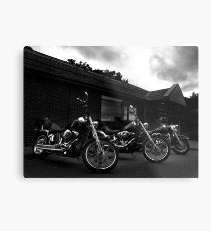 Bikers' Break Metal Print