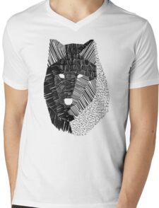Wolf Mask Mens V-Neck T-Shirt
