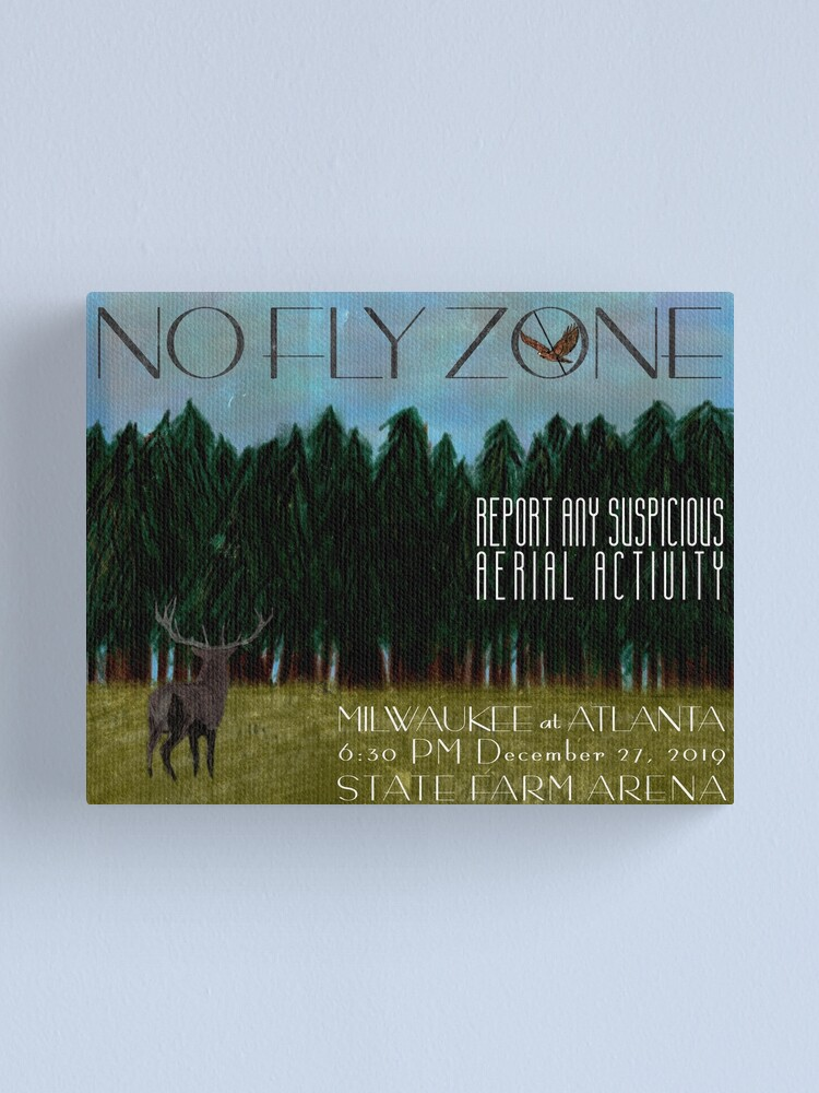 Alternate view of No Fly Zone Canvas Print