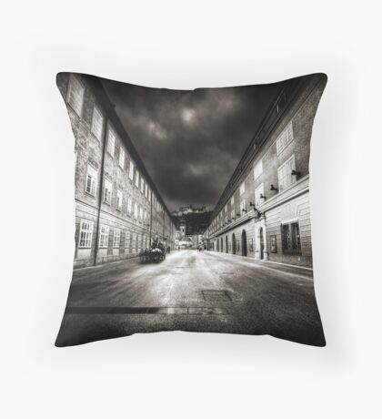Stormy Salzburg Throw Pillow