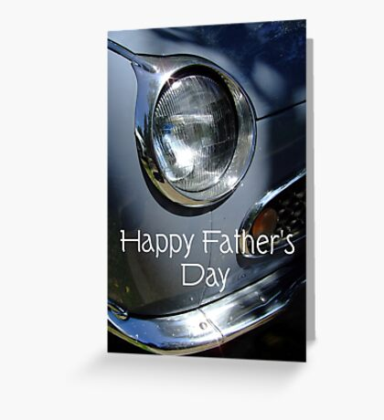 Father's Day Car Greeting Card