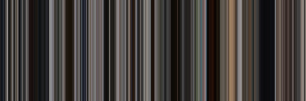 Moviebarcode: There Will Be Blood (2007) [Simplified Colors] by moviebarcode