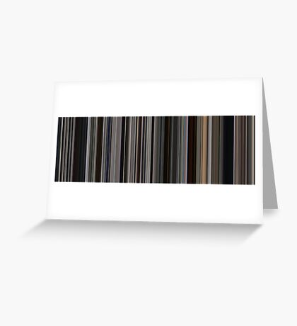 Moviebarcode: There Will Be Blood (2007) [Simplified Colors] Greeting Card