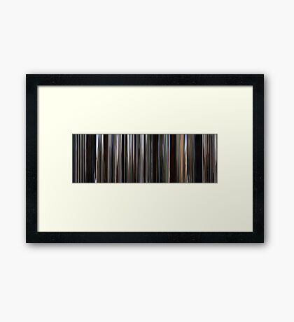 Moviebarcode: There Will Be Blood (2007) Framed Print