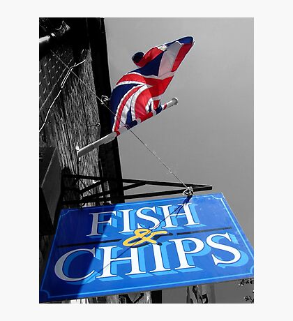Fish and Chips Photographic Print