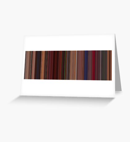 Moviebarcode: Fear and Loathing in Las Vegas (1998) [Simplified Colors] Greeting Card