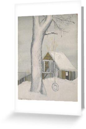 Tire Swing in Winter - Maine by artofjackmck