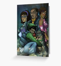 African American Scooby Doo Detective Agency Greeting Card