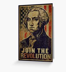 Washington Revolution Propaganda Greeting Card