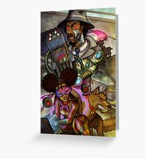 African American Inspector Gadget Greeting Card