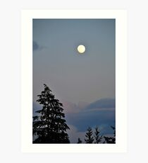 Mysterious Moon Art Print