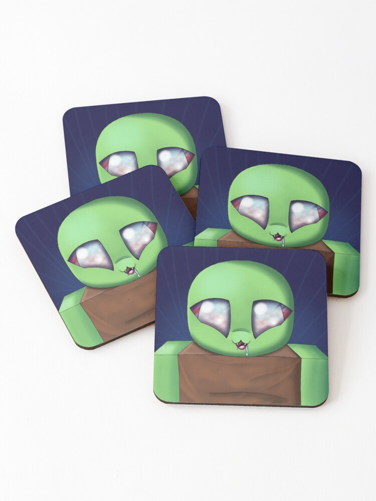 Roblox Zombie Coasters Set Of 4 By Duffyxx Redbubble