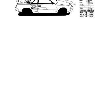 Toyota AW11 MR2 - AERO Graphic by MK1corse