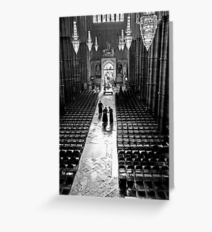 Clergy at Westminster Abbey Greeting Card