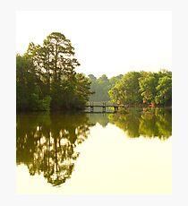 Morning light at the lake Photographic Print