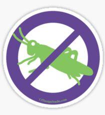 No Grasshoppers Sticker