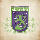 St. Urho Coat of Arms - Square by LTDesignStudio